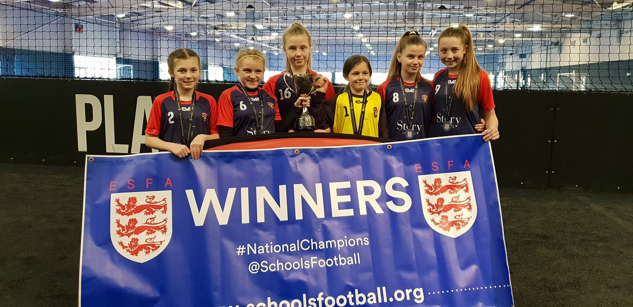 Year 7 NATIONAL CHAMPIONS Five a Side for LAYER SLIDER